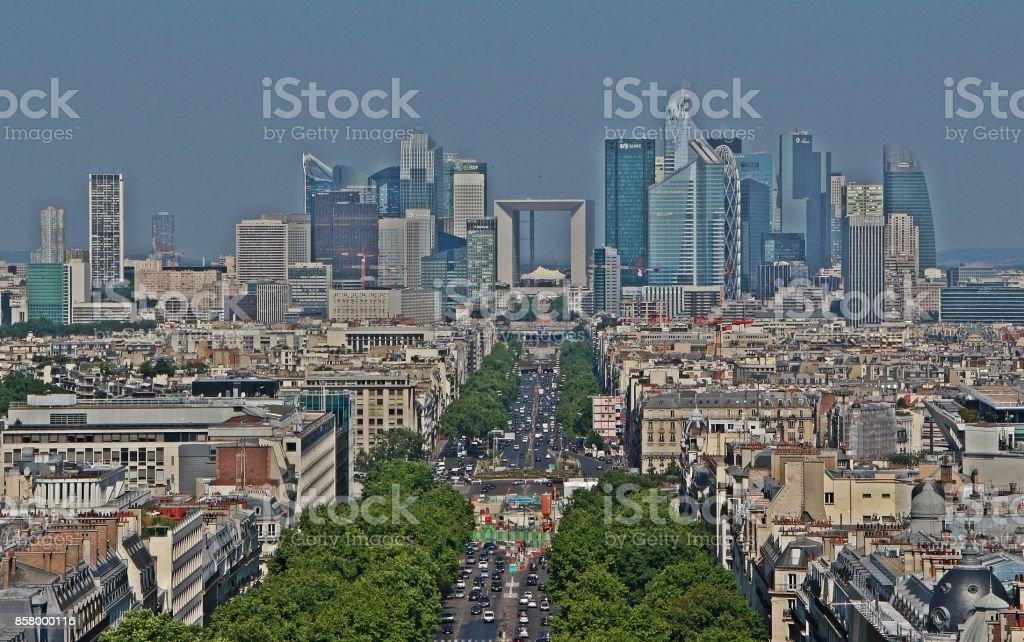 Downtown Paris, France stock photo