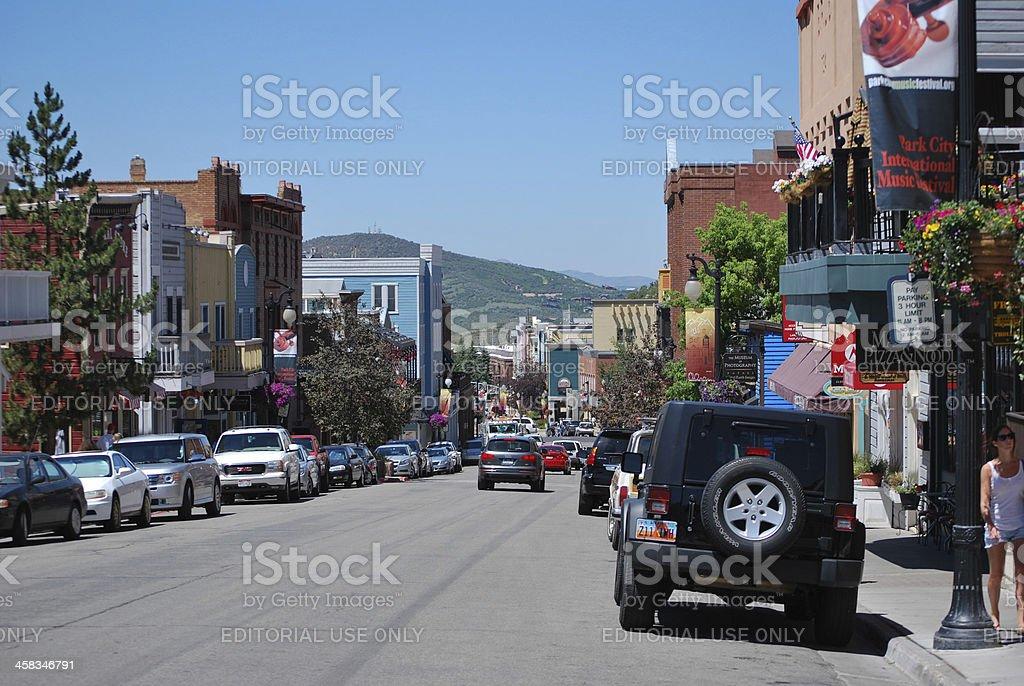 Downtown Park City Utah in Summer stock photo