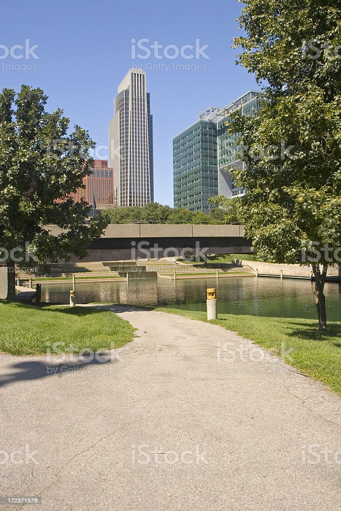 Downtown Park royalty-free stock photo