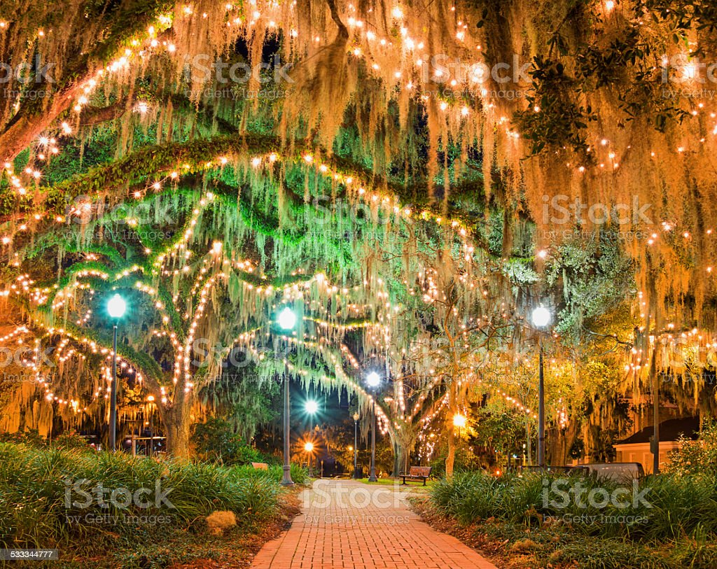Downtown Park Tallahassee Florida stock photo