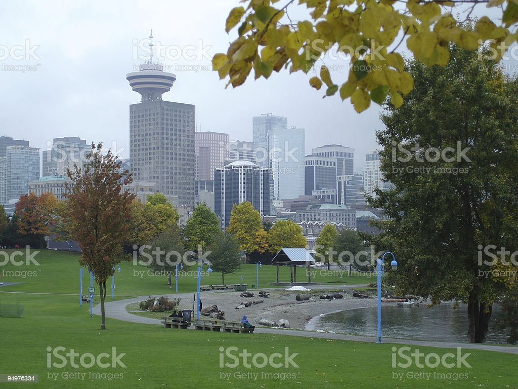 Downtown Park, Vancouver stock photo
