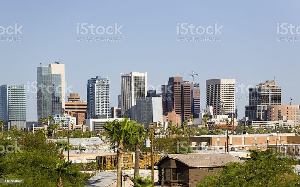 Downtown part of Phoenix city in Arizona royalty-free stock photo