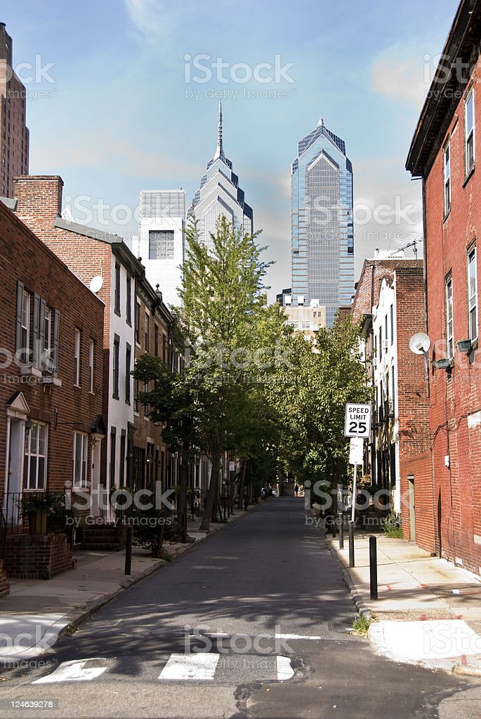 Downtown Philadelphia Neighborhood royalty-free stock photo