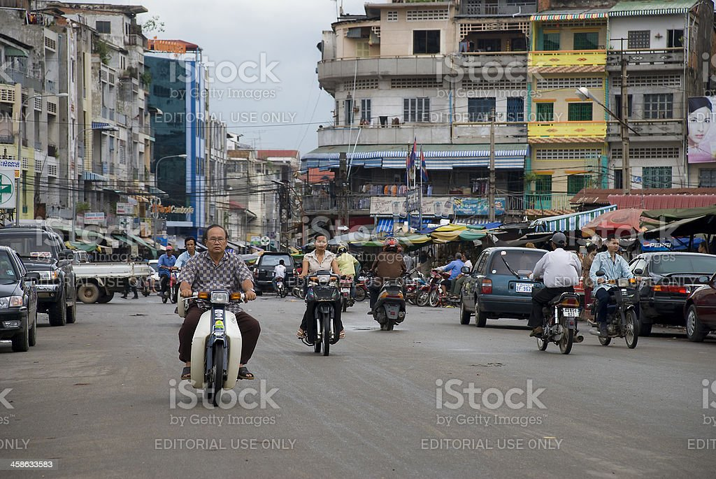 Downtown Phnom Penh royalty-free stock photo