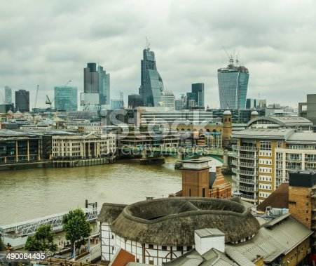 View of the London skyline from the South Bank.