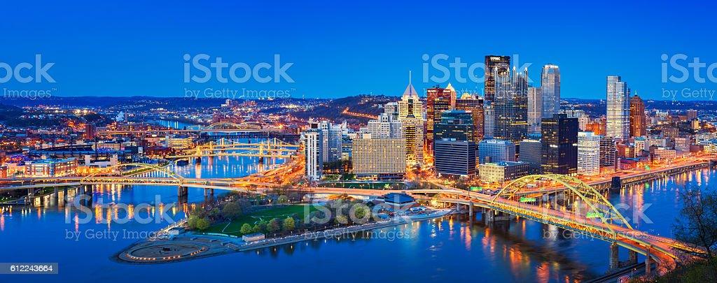 Downtown Pittsburgh Pennsylvania USA stock photo