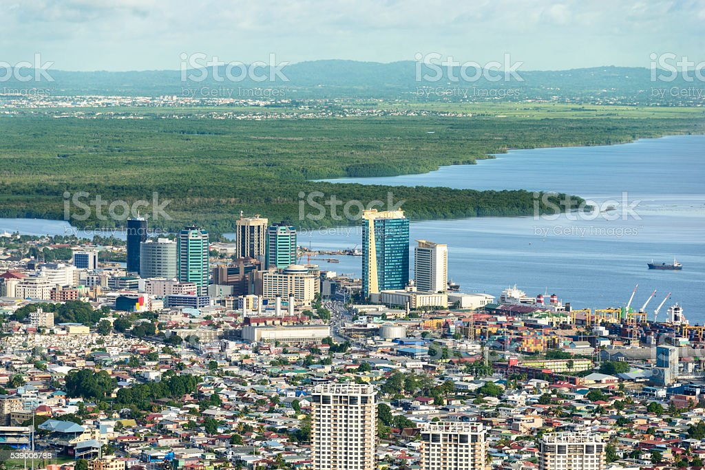 Downtown Port of Spain stock photo