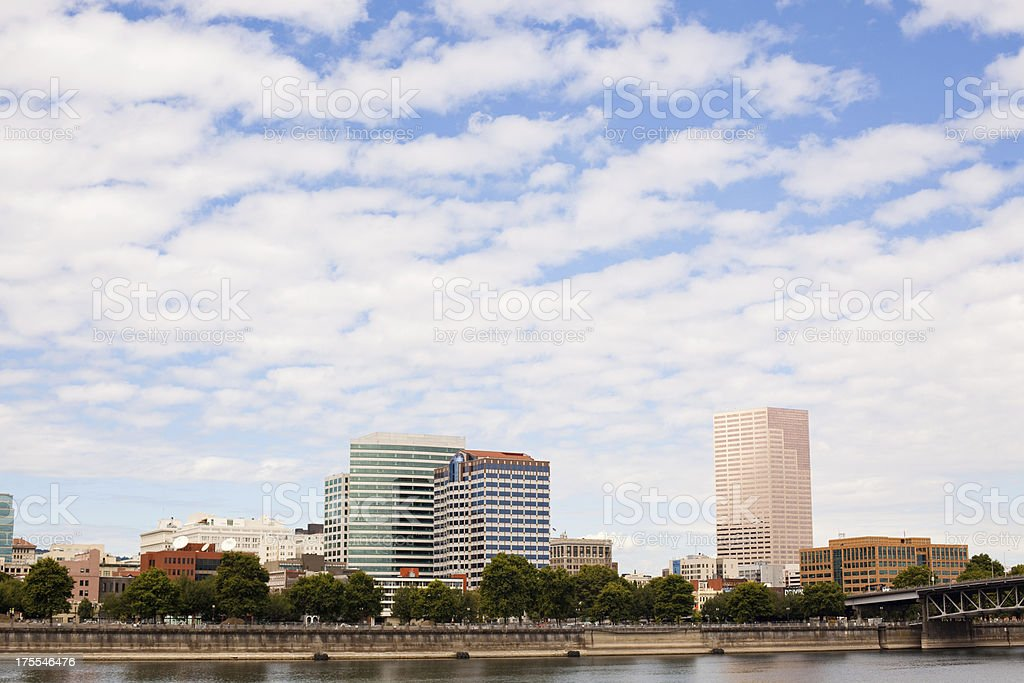 Downtown Portland Oregon and Sky royalty-free stock photo