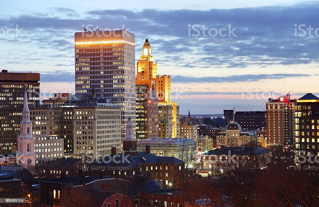 Downtown Providence, Rhode Island stock photo