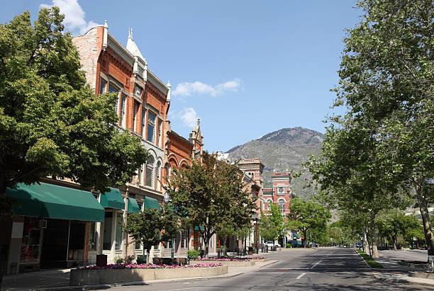 Downtown Provo stock photo