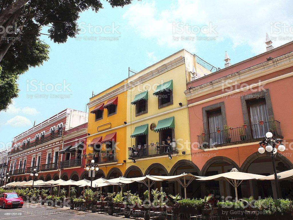 Downtown Puebla City stock photo