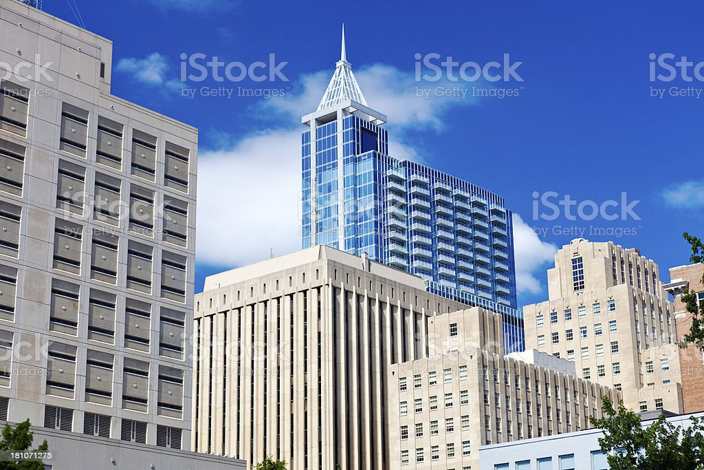 Downtown Raleigh, North Carolina royalty-free stock photo
