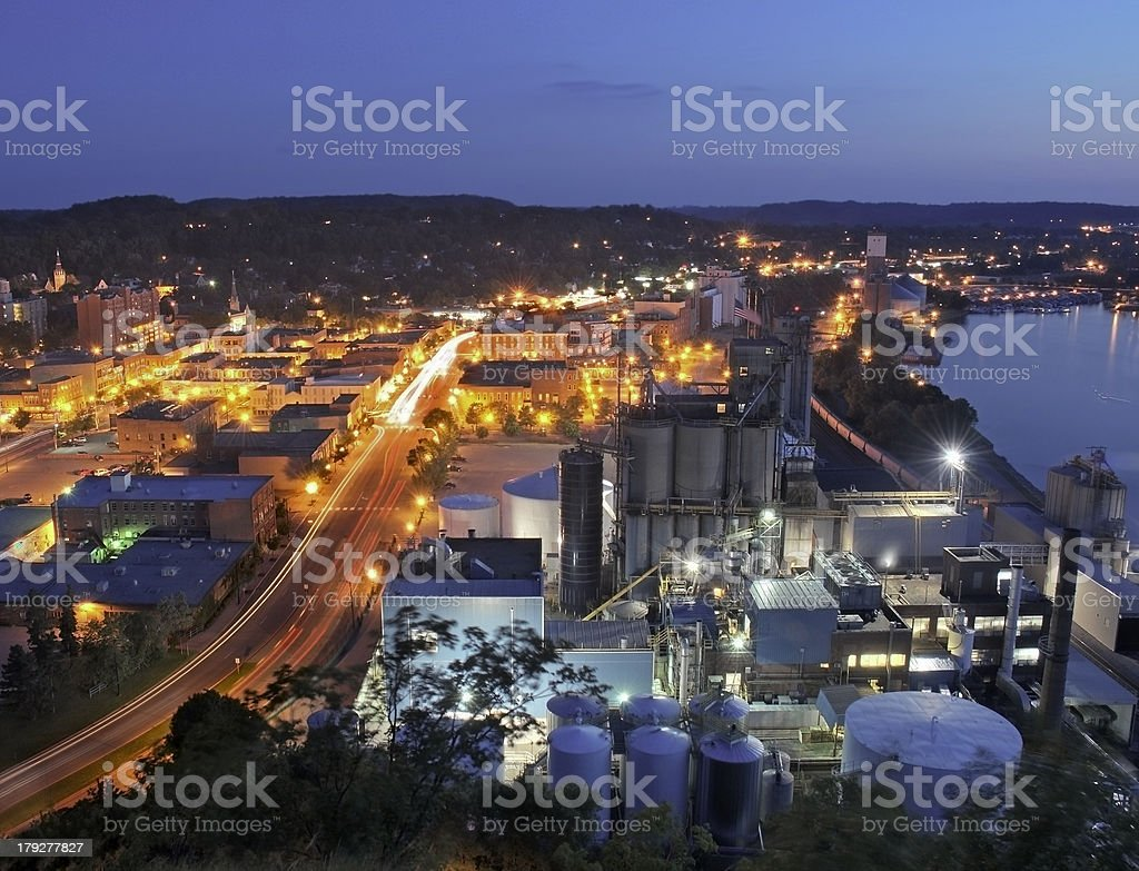 Downtown Red Wing Minnesota stock photo