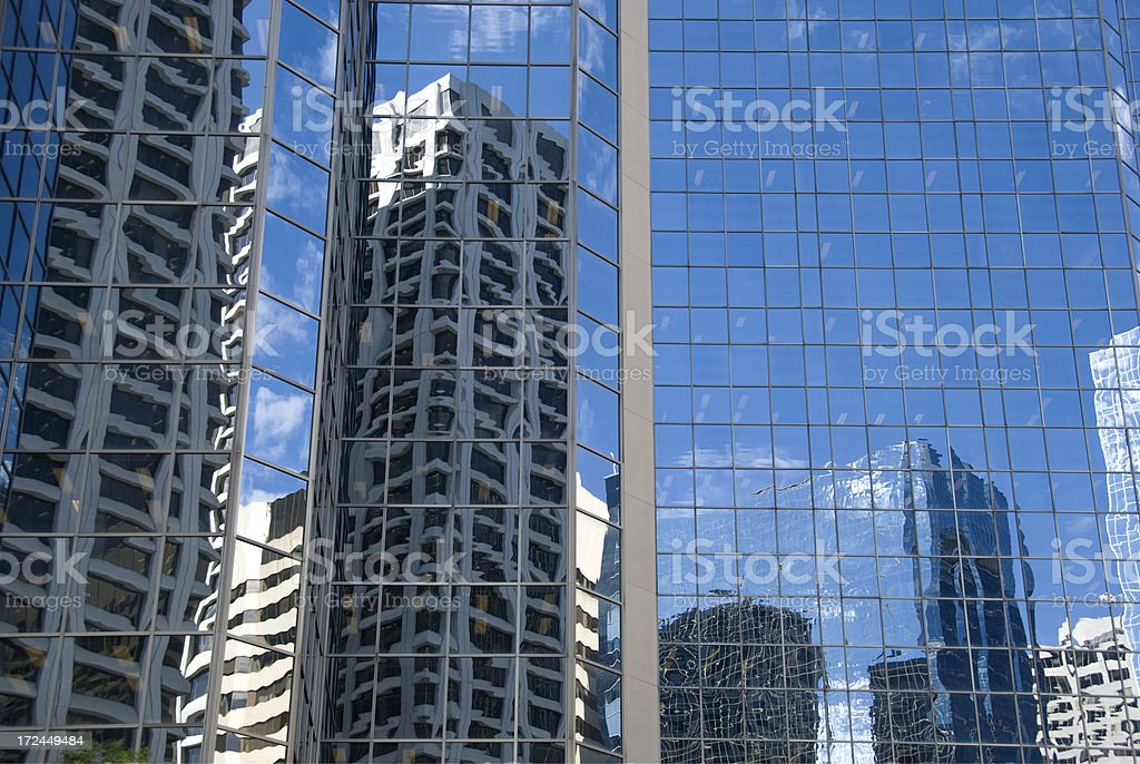 Downtown Reflections royalty-free stock photo