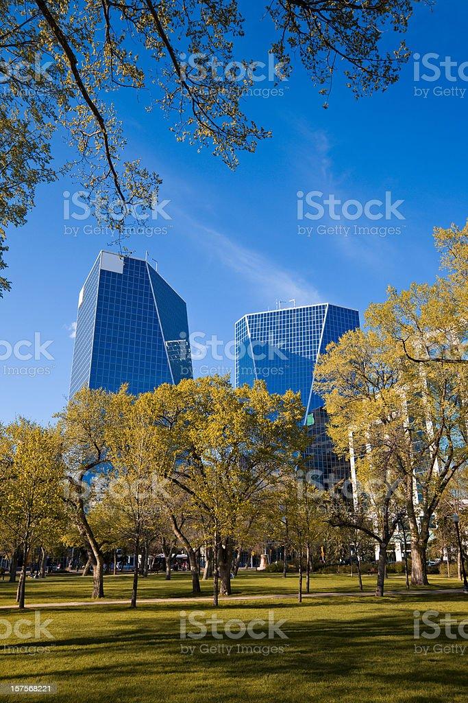 Downtown Regina, Saskatchewan stock photo