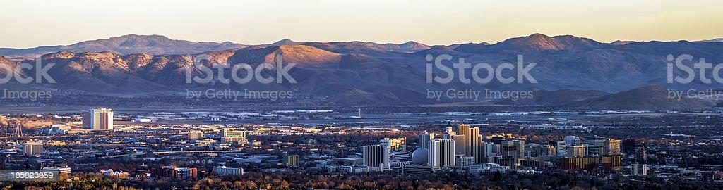 Downtown Reno, Nevada Panoramic View stock photo