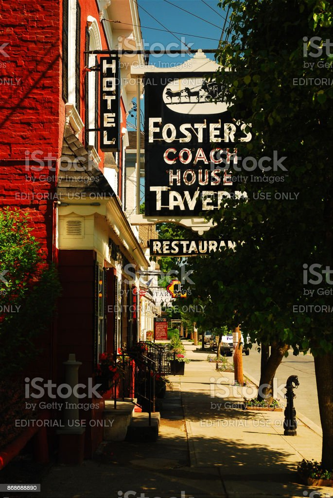 Downtown Rhinebeck, New York stock photo