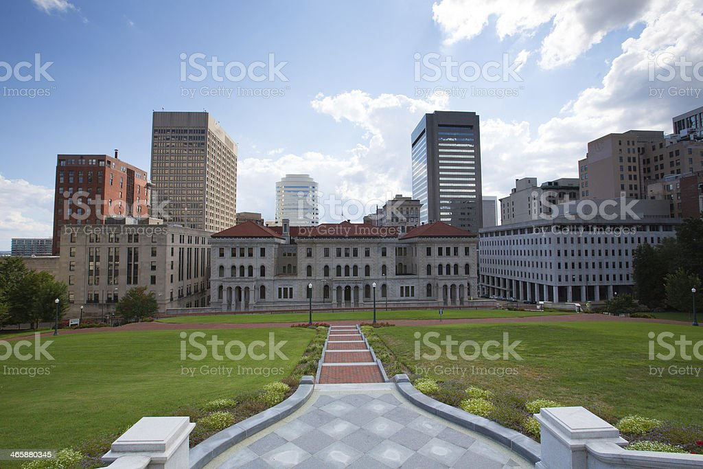 Downtown Richmond stock photo