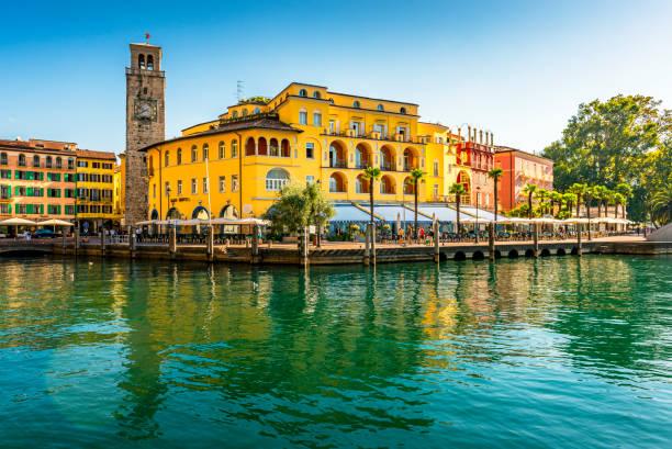 downtown Riva del Garda in Italy stock photo
