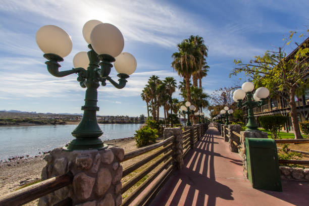 Downtown Riverwalk In Laughlin Nevada stock photo