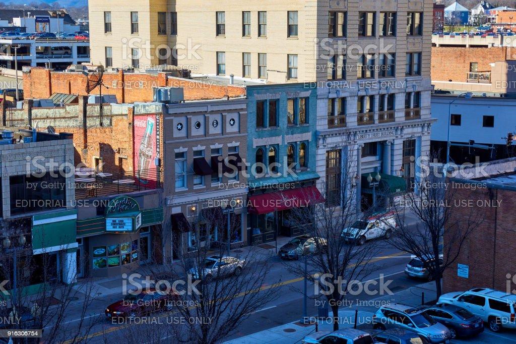 Downtown Roanoke, Virginia stock photo