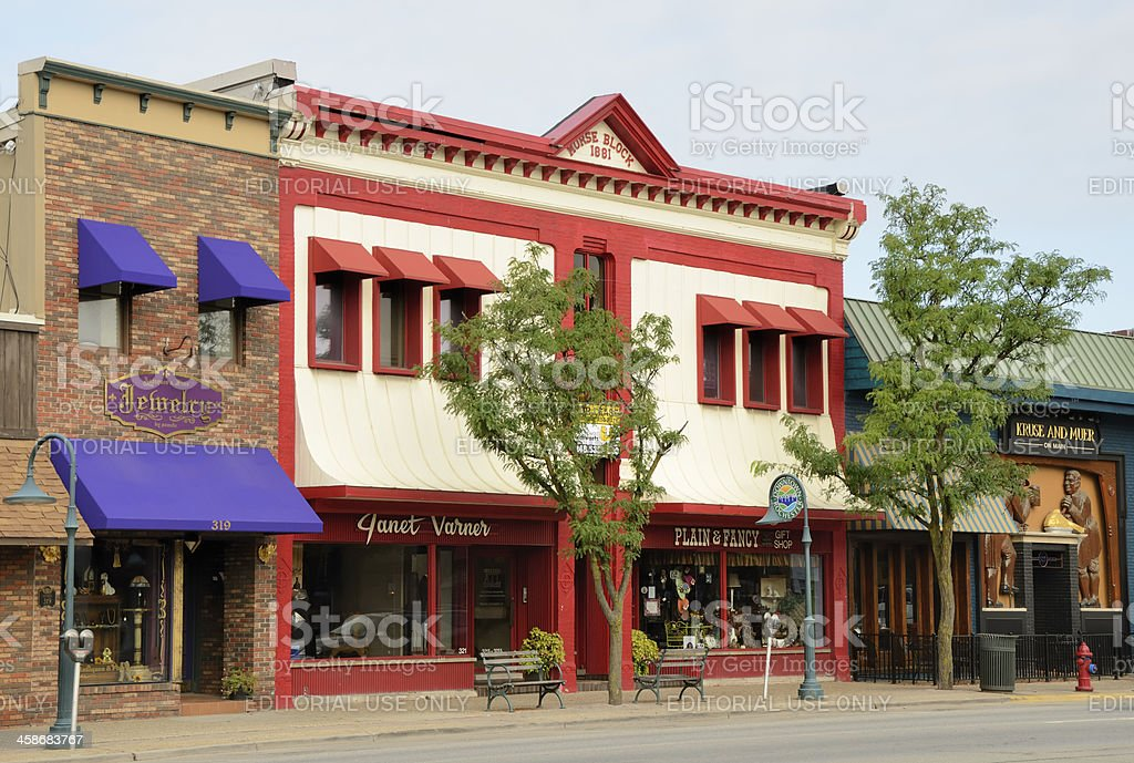Downtown Rochester, Michigan royalty-free stock photo
