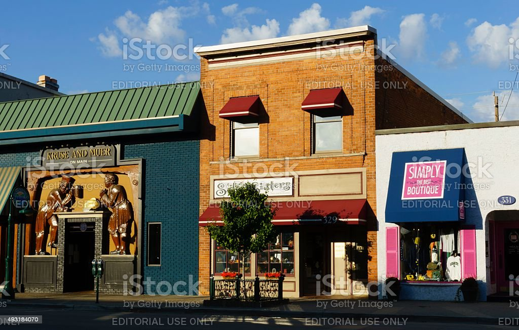 Downtown Rochester, Michigan stock photo