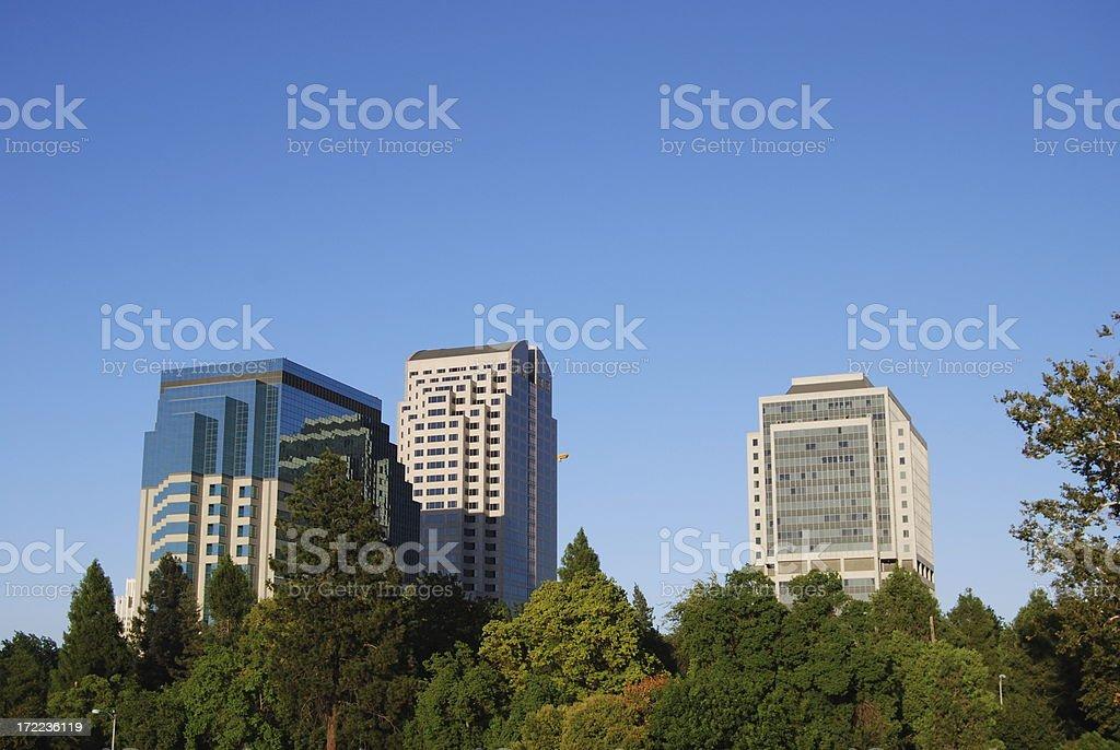 Downtown Sacramento skyline royalty-free stock photo