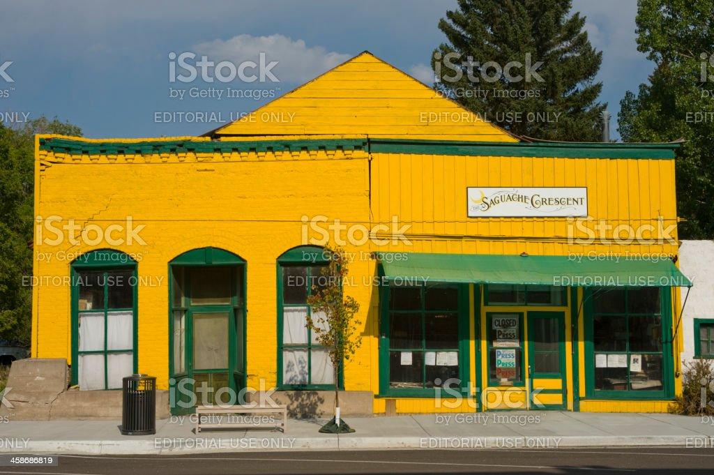 Downtown Saguache, Colorado stock photo