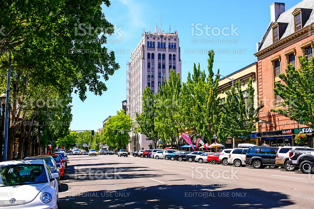 Downtown Salem, Oregon stock photo