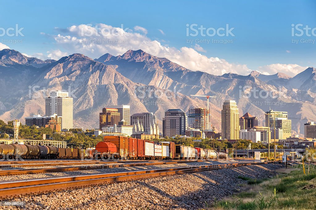 downtown salt lake city utah stock photo more pictures of business istock. Black Bedroom Furniture Sets. Home Design Ideas