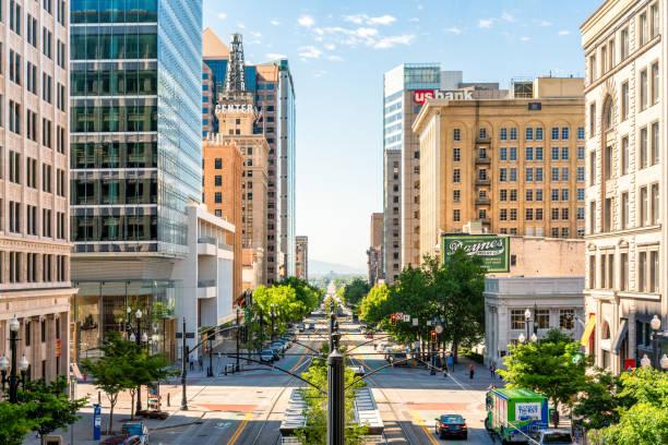 Downtown Salt Lake City view stock photo