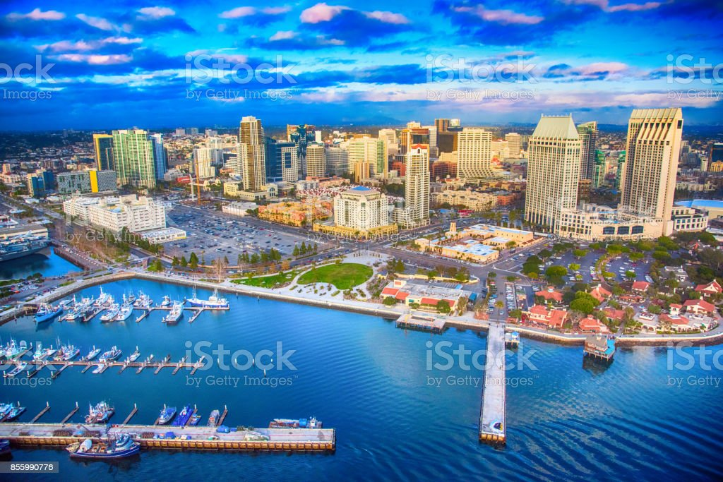 Downtown San Diego Skyline Aerial Stock Photo Download Image Now Istock
