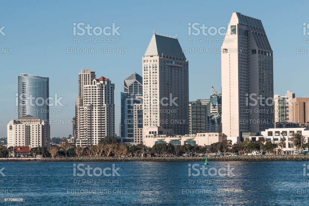 Downtown San Diego Skyline And Seaport Village Seen From Coronado Island Stock Photo Download Image Now Istock