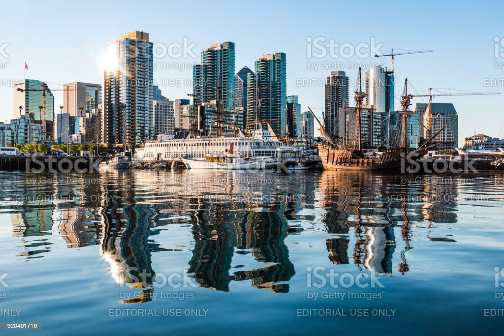 Downtown San Diego Skyline At Dawn And Maritime Museum Stock Photo Download Image Now Istock