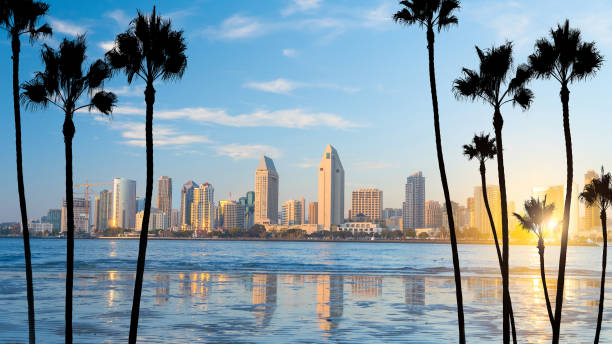 Downtown San Diego skyline in California, USA stock photo