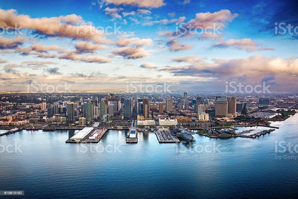 Downtown San Diego Skyline stock photo