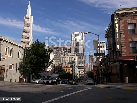 istock Downtown San Francisco and landmark Transamerica Building 1148608243