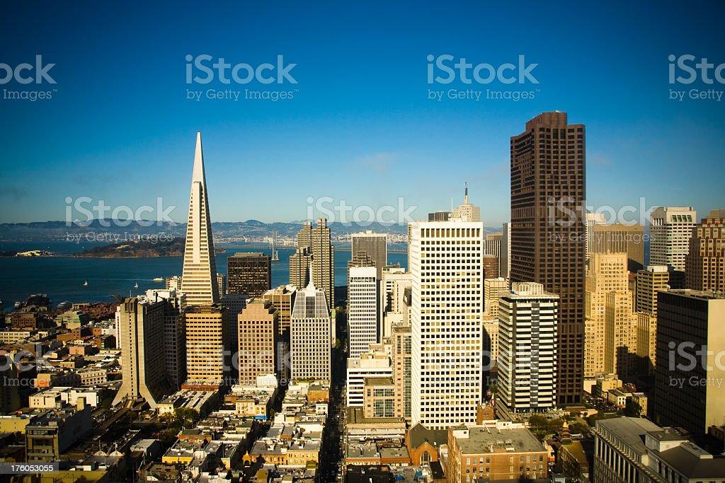 Downtown San Francisco, California royalty-free stock photo