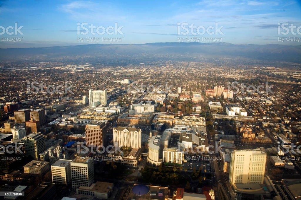 Downtown San Jose, California in Silicon Valley stock photo