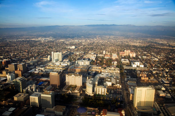 Downtown San Jose, California in Silicon Valley stock photo