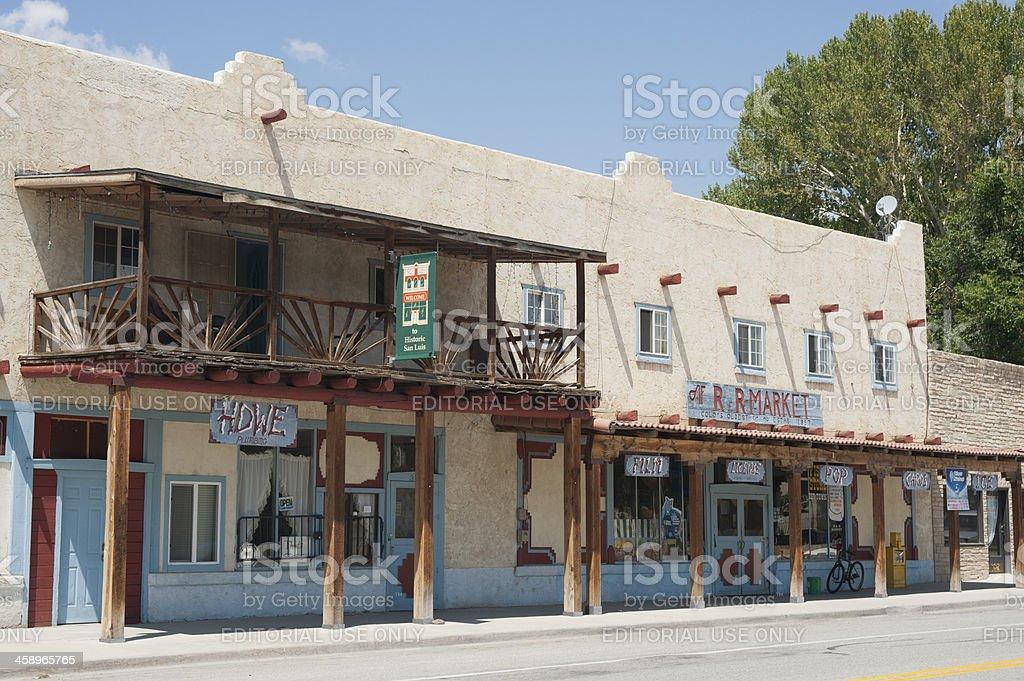 Downtown San Luis, Colorado stock photo