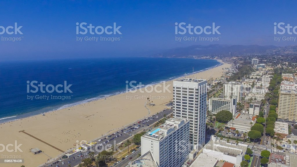 Downtown Santa Monica stock photo