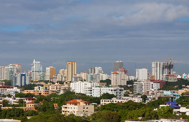 Downtown Santo Domingo stock photo