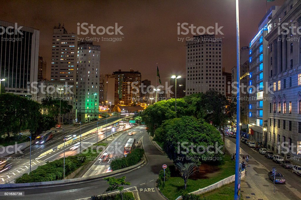 downtown Sao Paulo stock photo