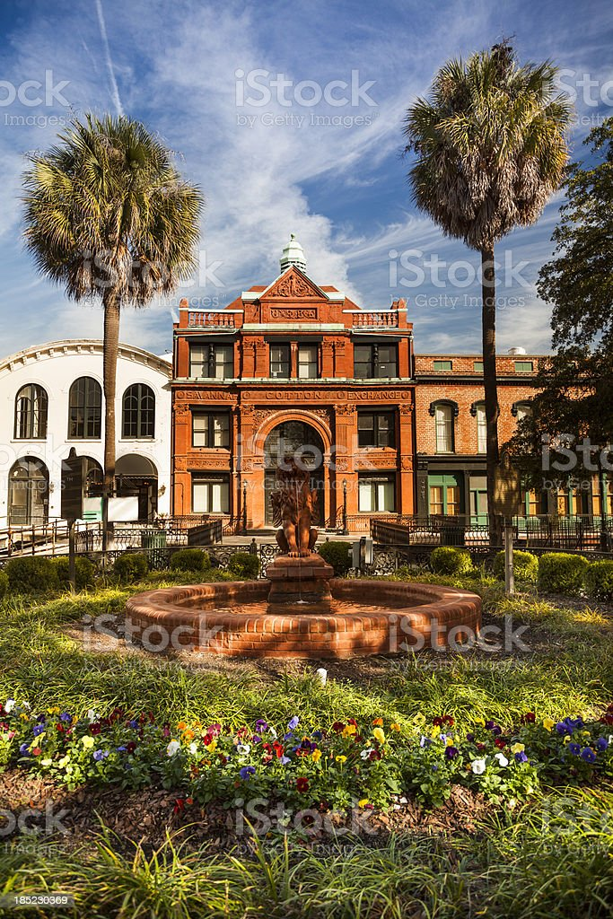 Downtown Savannah Georgia stock photo