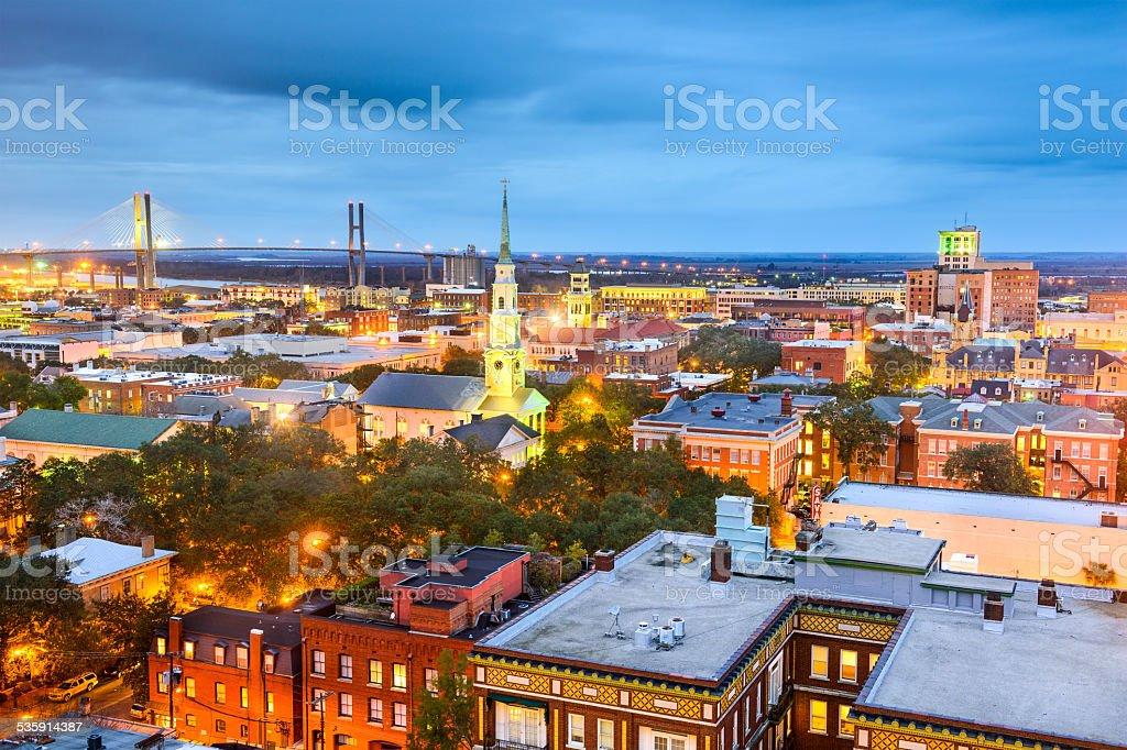 Downtown Savannah, Georgia, USA stock photo