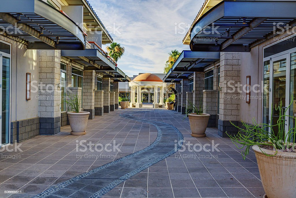 Downtown Scottsdale Arizona in the Old Town District. stock photo