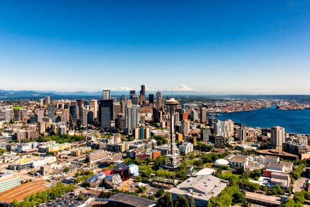 Downtown Seattle Aerial stock photo