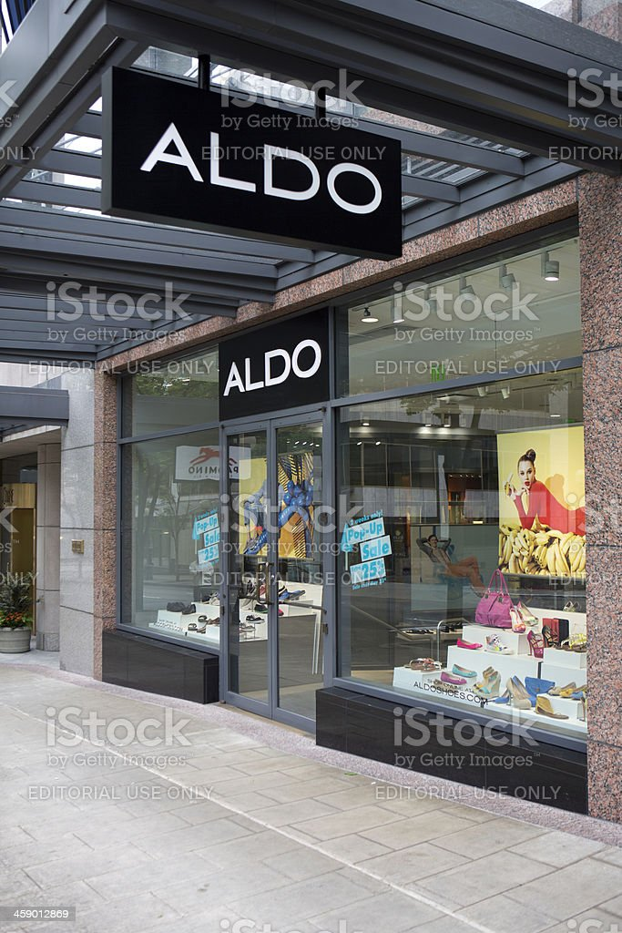 Downtown Seattle Aldo Shoe Store in the Retail Core stock photo